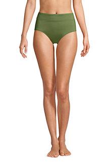 Women's Chlorine Resistant High Waisted Control Bikini Bottoms