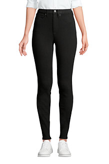 High Waist Leggings-Jeans mit Stretch in Schwarz für Damen