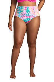Women's Plus Size Chlorine Resistant Retro High Waisted Bikini Bottoms