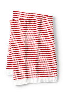 Stripe Knit Throw Blanket