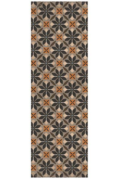 Bungalow Flooring Skid Resistant Floral Mosaic Floor Mat