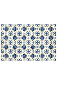 Bungalow Flooring Skid Resistant Circle Pattern Floor Mat
