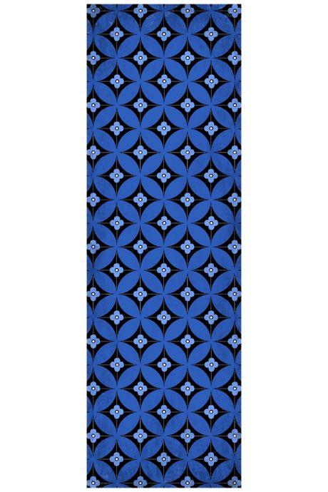 Bungalow Flooring Skid Resistant Geometric Bloom Floor Mat
