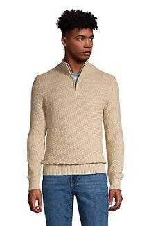 Pull Drifter 1/2 Zip Texturé en Coton, Homme
