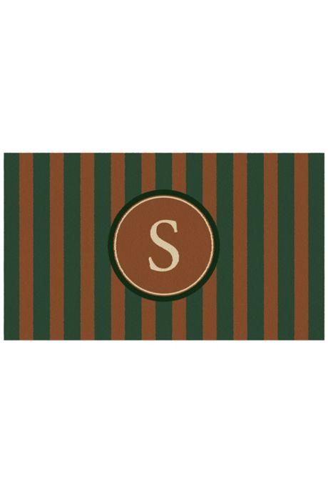 Bungalow Flooring Monogrammed Stripe Doormat