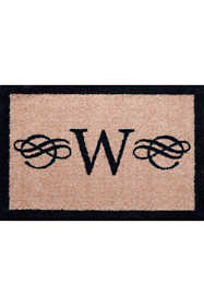 Bungalow Flooring Monogrammed Border Doormat