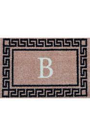 Bungalow Flooring Monogrammed Greek Key Doormat