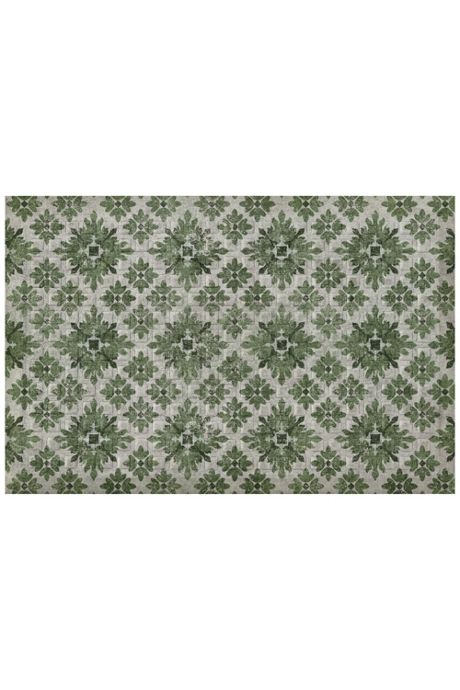 Bungalow Flooring Comfort Tread Floral Diamond Design Floor Mat