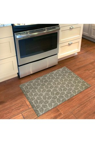 Bungalow Flooring Comfort Tread Leaf Print Floor Mat