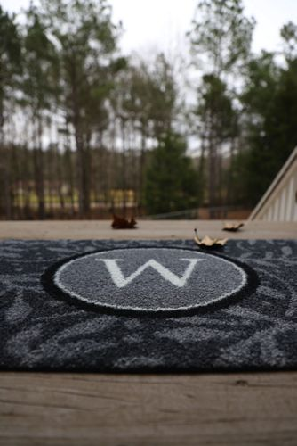 Bungalow Flooring Monogrammed Wisteria Doormat