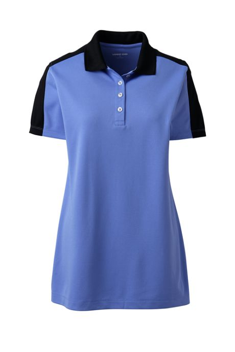 Women's Short Sleeve Color Block Polyester Polo Shirt