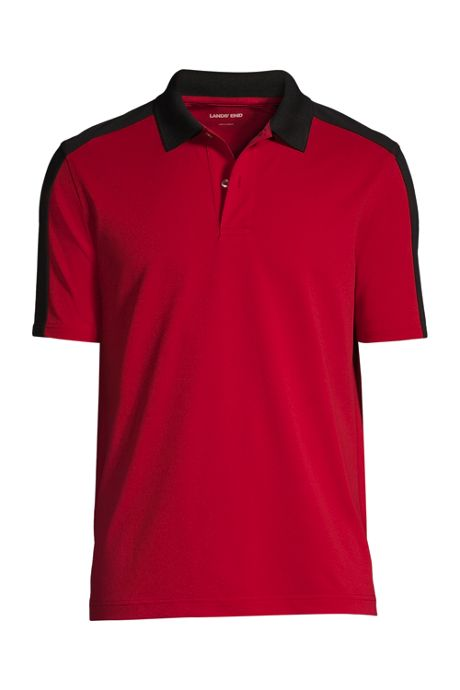 Men's Short Sleeve Color Block Polyester Polo Shirt