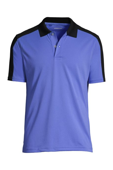 Men's Short Sleeve Rapid Dry Color Block Active Polo Shirt