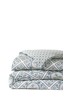 Bügelfreier Supima Bettdeckenbezug Gemustert