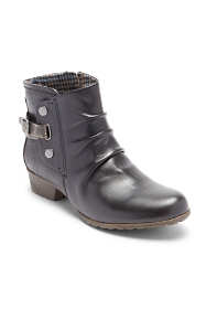 Women's Wide Width Cobb Hill Gratasha Leather Hardware Boots