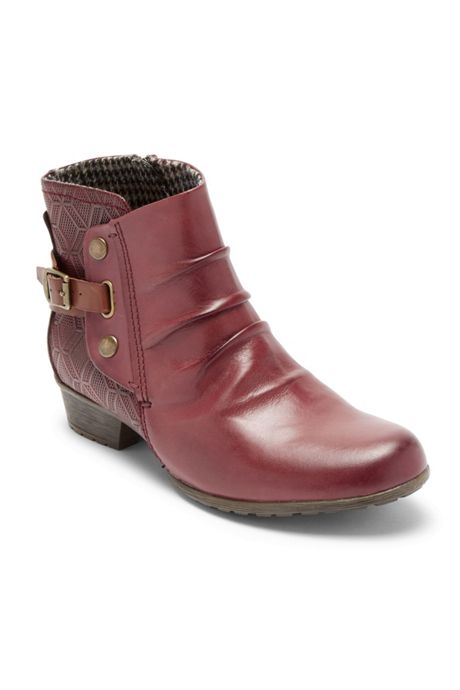 Women's Narrow Width Cobb Hill Gratasha Leather Hardware Boots