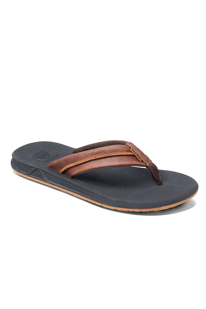 Men's Reef Leather Element TQT Sandals, Front