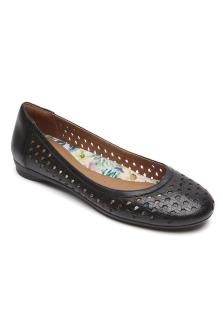 Women's Wide Width Cobb Hill Maiika Woven Leather Ballet Flats