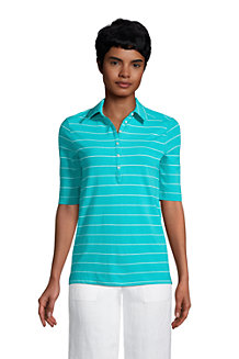 Women's Linen/Cotton Polo Shirt