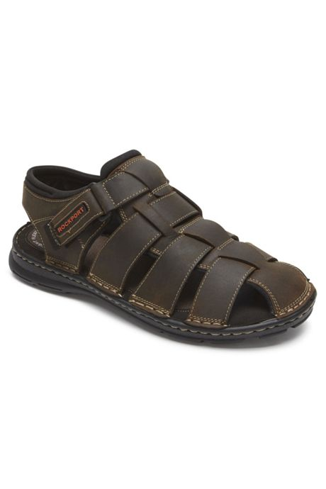 Men's Rockport Darwyn Fisherman Leather Sandals