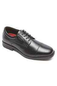 Men's Narrow Width Rockport Essential Details Cap Toe Waterproof Leather Shoes