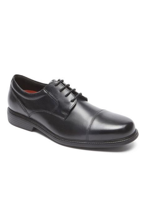 Men's Wide Width Rockport Charlesroad Leather Cap Toe Oxford Shoes