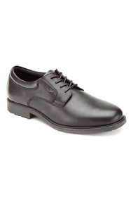 Men's Extra Wide Width Rockport Essential Details Plain Toe Waterproof Leather Shoes