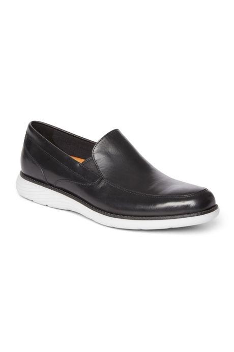 Men's Wide Width Rockport Garett Venetian Leather Slip On Shoes
