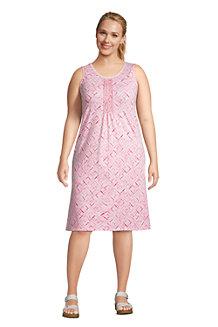 Ärmelloses Kleid mit Biesenfalten für Damen