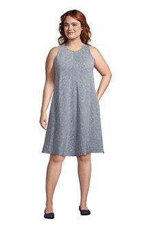 Leinenkleid in A-Linie für Damen