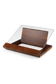 Picnic Time Wooden Cookbook Stand with Glass