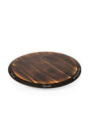 Picnic Time Lazy Susan Wooden Serving Tray