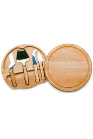 Picnic Time Round Cheese Cutting Board With Tools