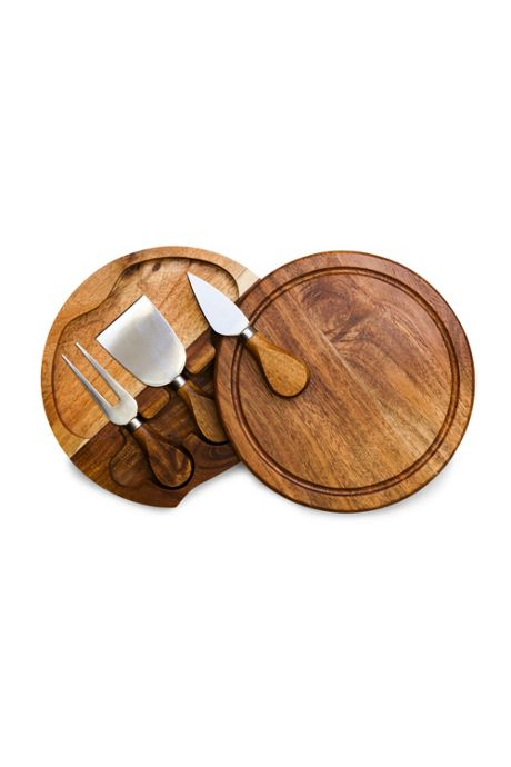 Picnic Time Wooden Brie Cheese Cutting Board With Tools