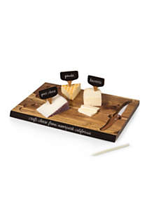 Picnic Time Wooden Cheese Cutting Board With Tools, alternative image