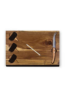 Picnic Time Wooden Cheese Cutting Board With Tools, Front