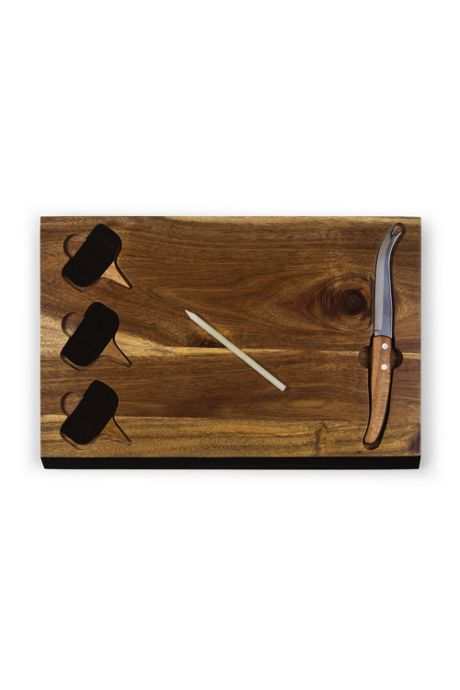 Picnic Time Wooden Cheese Cutting Board With Tools