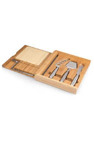 Picnic Time Soiree Bamboo Cheese Cutting Board With Wire Cutter