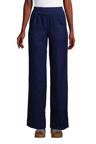 Leinenhose mit weitem Bein für Damen in Plus-Größe