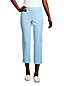 Women's Plus Pull-on Cropped Chino Trousers, Seersucker