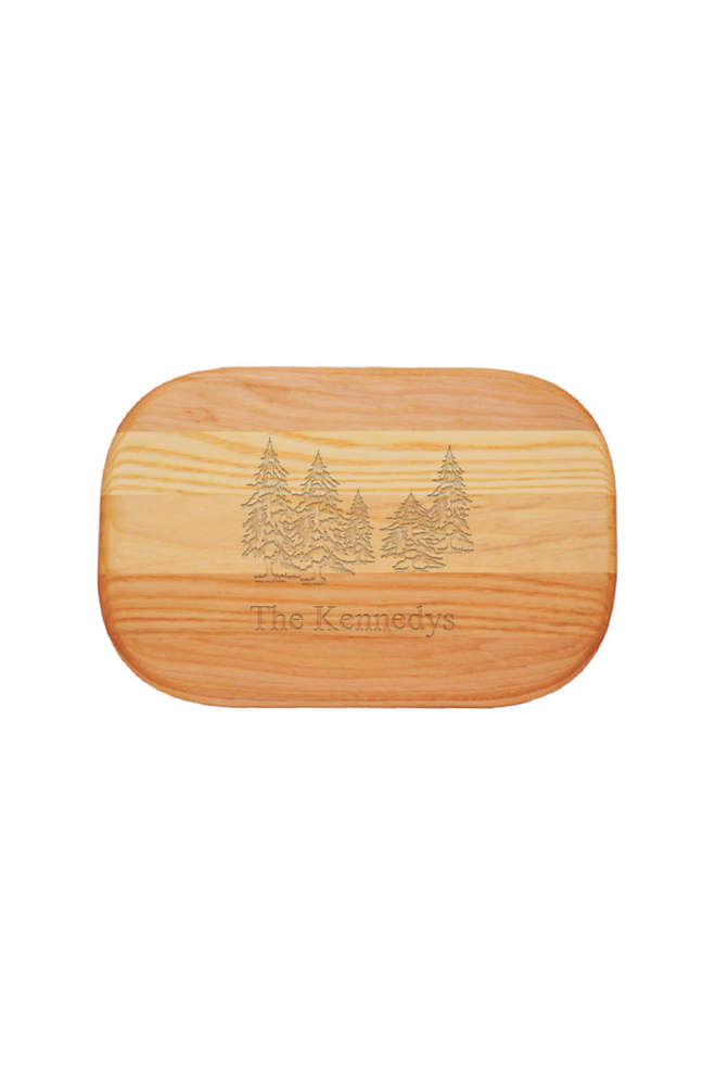 Carved Solutions Personalized Everyday Wood Cutting Board, Front