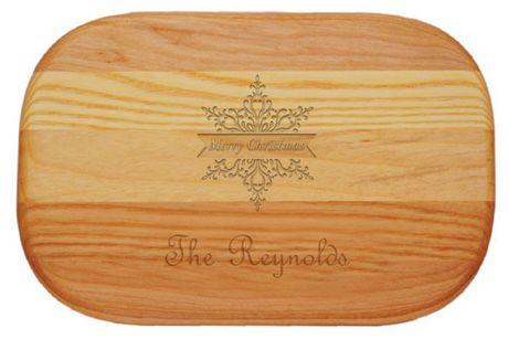 Carved Solutions Personalized Everyday Wood Cutting Board