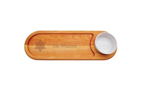 Carved Solutions Personalized Everyday Wood Dip and Serve Tray