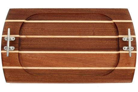 Carved Solutions Personalized Rectangle Nautical Wood Serving Tray