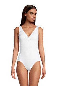 Women's Chlorine Resistant Tummy Control Twist Front Swimsuit