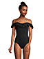 Chlorresistenter Control Badeanzug mit Rüschen für Damen in Plus-Größe