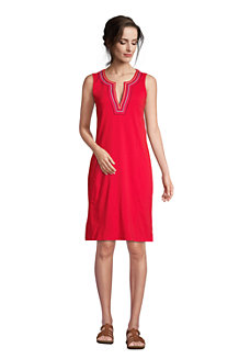 Women's Cotton Jersey Sleeveless Swim Cover-up Dress