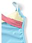 Seersucker-Tankinitop CHLORRESISTENT mit V-Ausschnitt Colorblock Gemustert für Damen