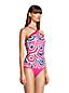 Women's Plus Chlorine Resistant Piped Halter Neck Tankini Top