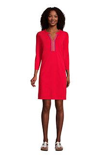 Tunika-Strandkleid Bestickt für Damen